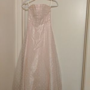 Jessica McClintock strapless ballet pink dress